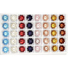 Crystal Flower, 8 mm, 1 gross  144 pc