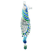 Dazzling Peacock Key Ring-KC001