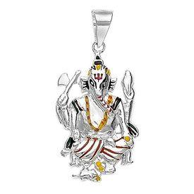 Ganpati Silver Pendant-PD041