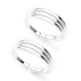 Splendid Plain Silver Toe Rings-TR197