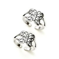 Lovely Butter-Fly Sterling Silver Toe Ring-TR113