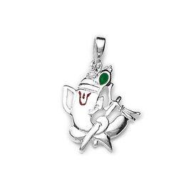 Ganesh Flute Silver Pendant-PD088