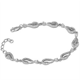 Stunning Drop Shape Zircon Bracelet-BR013