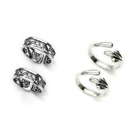 Amazing Combo of 2 Pair Sterling Silver Toe Rings-CMTR004