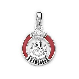 Pretty Lord Ganesh Silver Pendant-PD044