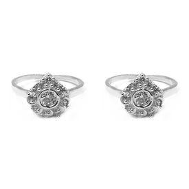 Fabulous White Zircon Silver Toe Ring-TOER046