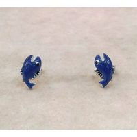 Amazing Fish Shape Enamel Silver Tops-ER045