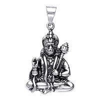 Lord Hanuman Silver Pendant-PD016