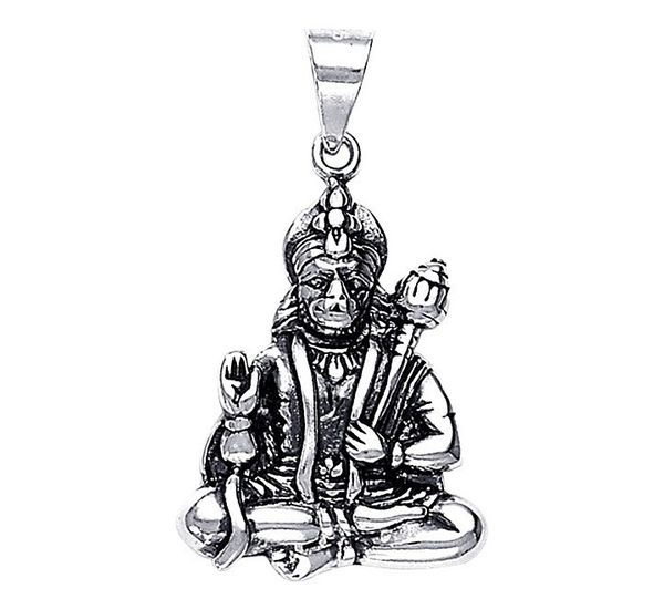 Lord hanuman sterling silver pendant silver pendants online lord hanuman silver pendant pd016 aloadofball Image collections