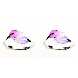 Enamelled Leaf Shaped Toe Rings-TRAC001, yellow