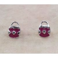 Charming Handbag Shape Enamel Tops-ER047