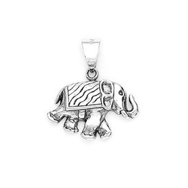 Fabulous Elephant Shape Silver Pendant-PD057