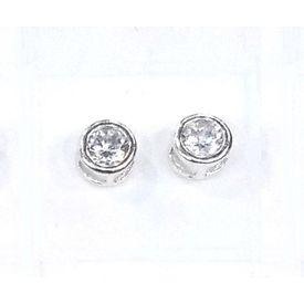 Cubic Zircon Silver Earrings-ER020