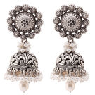 Ada Handcrafted Jewellery Sterling 925 Silver Jhumki Earring With Fresh Water Pearl For Women SE-1229.48