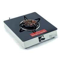 Sunshine Meethi Angeethi Single Burner Toughened Glass Top Gas Stove, lpg