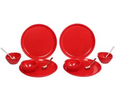 Gluman Dinner Set - Sparkle 16 pcs Round (Red)