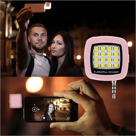 16 LED Flash Light Mini Portable Camera Flash and Fill Night Selfie Light for iPhone Android/Windows Mobiles