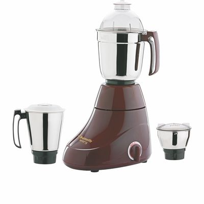 Butterfly Ivory 600-Watt Mixer Grinder with 3 Jars,  cherry red