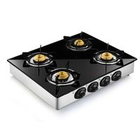 Butterfly 4 Burner Reflection Special Edition Auto Ignition Gas Stove,  silver