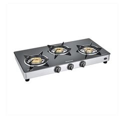 Sunflame Classic 3 Burner SS Gas Stove,  silver