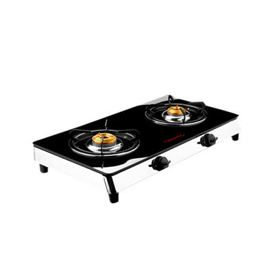 Butterfly Reflection 2 Burner Gas Stove,  silver