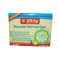 Viking Flushable Paper Seat Cover Pack of 250 pcs# 728