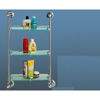 Hi-Life Diamond Front Glass Shelf - Triple
