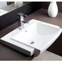 Hindware L490mm X W615mm X H210mm Tessa Semi Recessed Wash Basin# 91055, pastel