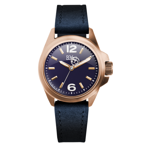 B ELEGANT-ROSE GOLD BLUE WATCH