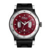 B CLASS MEDIUM-BLACK SILVER RED WATCH