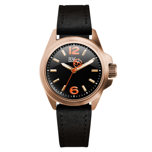 B ELEGANT-ROSE GOLD BLACK WATCH