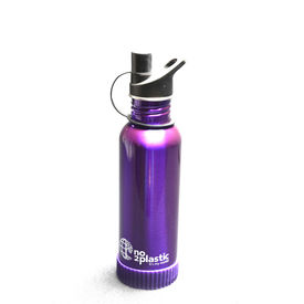 Stainless Steel Water Bottles with your NAME(Purple)