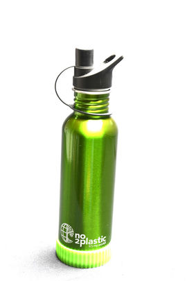 Stainless Steel Water Bottles with your NAME(Green)