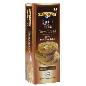Sugarless Bliss Short Bread Natural Butter 200g