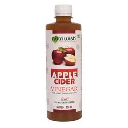 Apple Cider Vinegar With Mother Vinegar and Honey - 500 ml - Nutriwish's