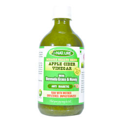 DrNATcURE Apple Cider Vinegar Blended with Bermuda Grass(Anti-diabetic) and Honey