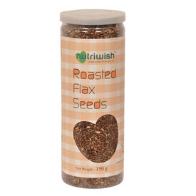 Flax Seeds Roasted - 150gms- Nutriwish s