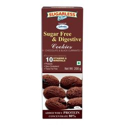 Sugarless Bliss Chocolate Blackcurrent Cookies, 200 gms