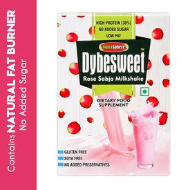 Dybesweet Fat Burner Rose Sabja Milkshake - 6 Sachets
