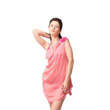 L24- Bridal Blush Pink Drape Dress, m,  rust
