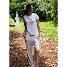 C94- T-shirt with heart print Pyjamas, m,  light pink