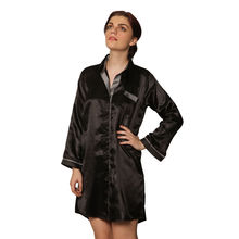 L58- Satin Sleepshirt, m,  black