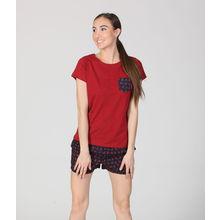 C189- Maroon T-Shirt & Shorts, l,  d01345maroon