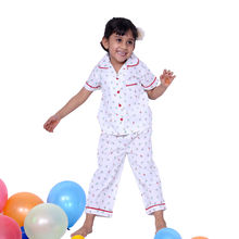 CUTE115- Insect Print Night Suit, 4,  red