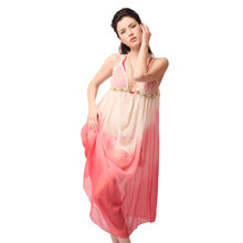 L29- Bridal Ombre Dyed Drape Dress With Underwear, m,  rust
