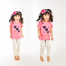 CUTE103 Cute little hearts nightwear, 4,  pink
