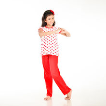 CUTE108 Cute Hearts Printed Night Wear, 6,  red