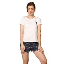 C73- T-shirt with Star print Boxers & Pyjamas, m,  pink