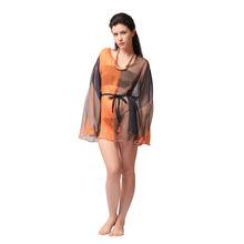 S11- Chiffon Tie-up Kimono, m,  magenta