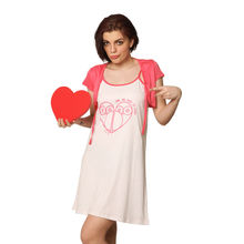 L57- Long Slip Dress with Shrug, s,  pink